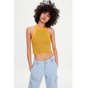 NWT Zara Halterneck Crop Top